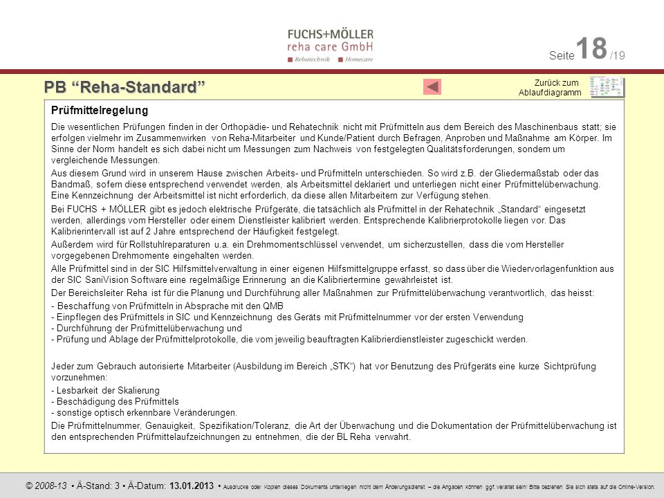 PB Reha-Standard Prüfmittelregelung