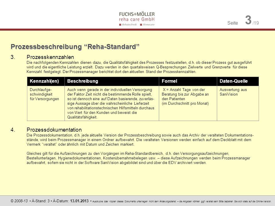 Prozessbeschreibung Reha-Standard