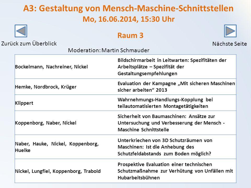 A3: Gestaltung von Mensch-Maschine-Schnittstellen Mo, 16. 06