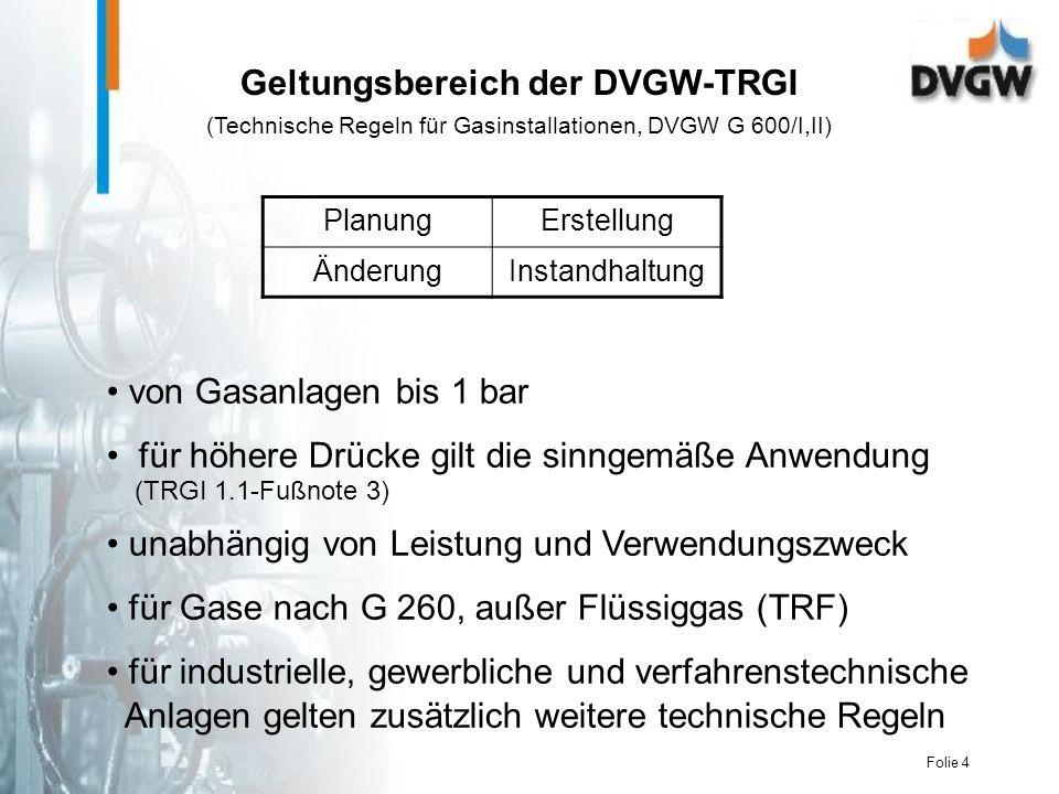 Geltungsbereich der DVGW-TRGI