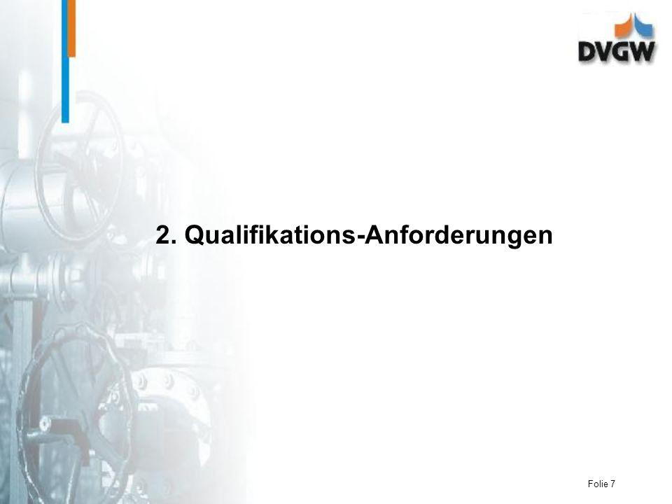 2. Qualifikations-Anforderungen