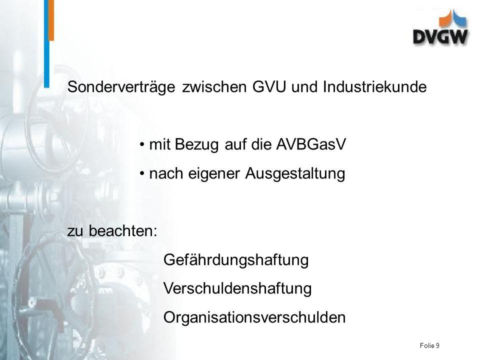Sonderverträge zwischen GVU und Industriekunde