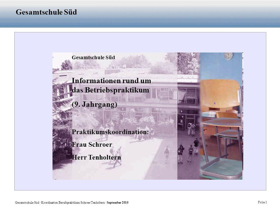 Informationen rund um das Betriebspraktikum