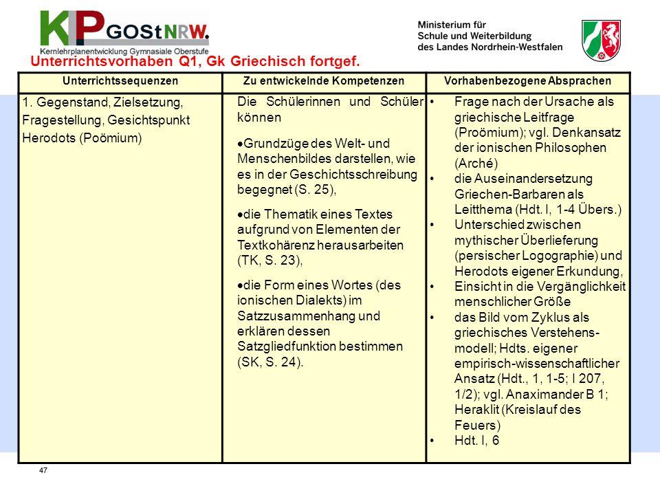 Unterrichtsvorhaben Q1, Gk Griechisch fortgef.