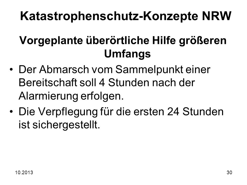 Katastrophenschutz-Konzepte NRW