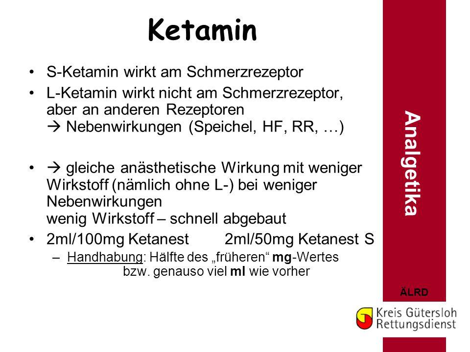 Ketamin Analgetika S-Ketamin wirkt am Schmerzrezeptor