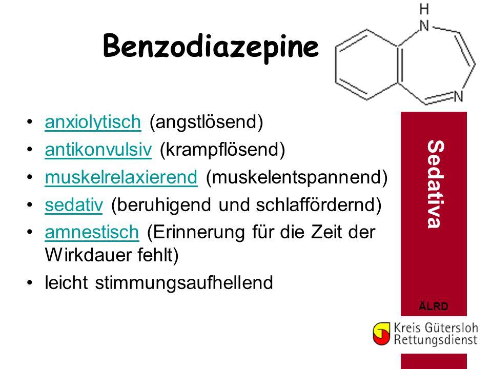 Benzodiazepine Sedativa anxiolytisch (angstlösend)