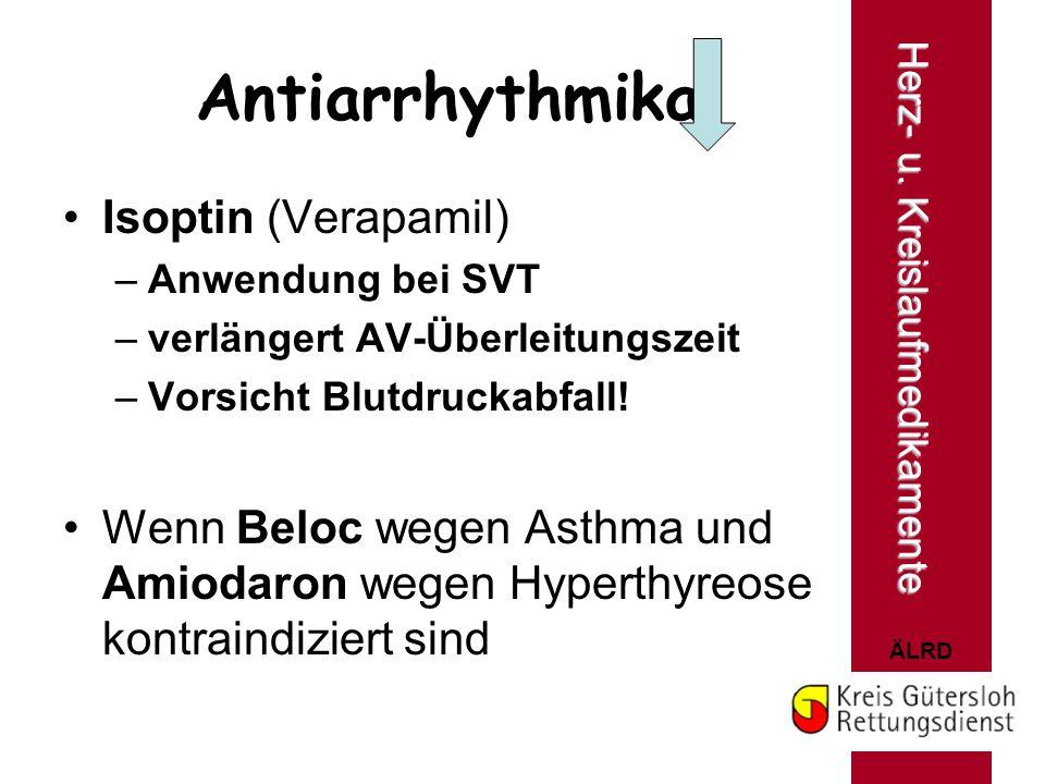 Antiarrhythmika Isoptin (Verapamil)
