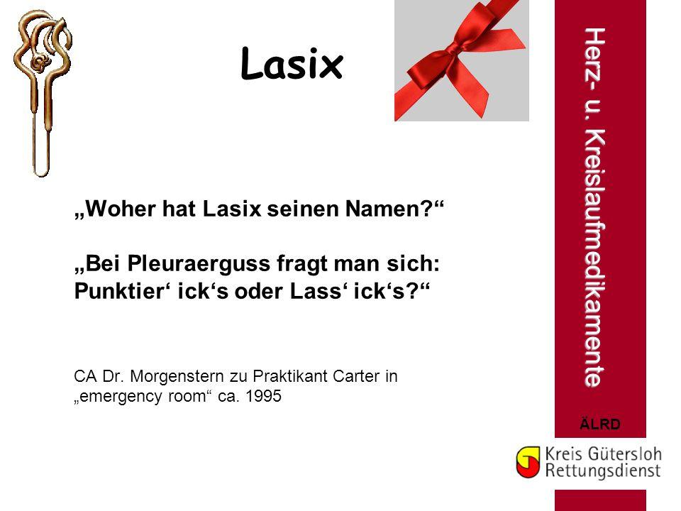 """Lasix Herz- u. Kreislaufmedikamente """"Woher hat Lasix seinen Namen"""
