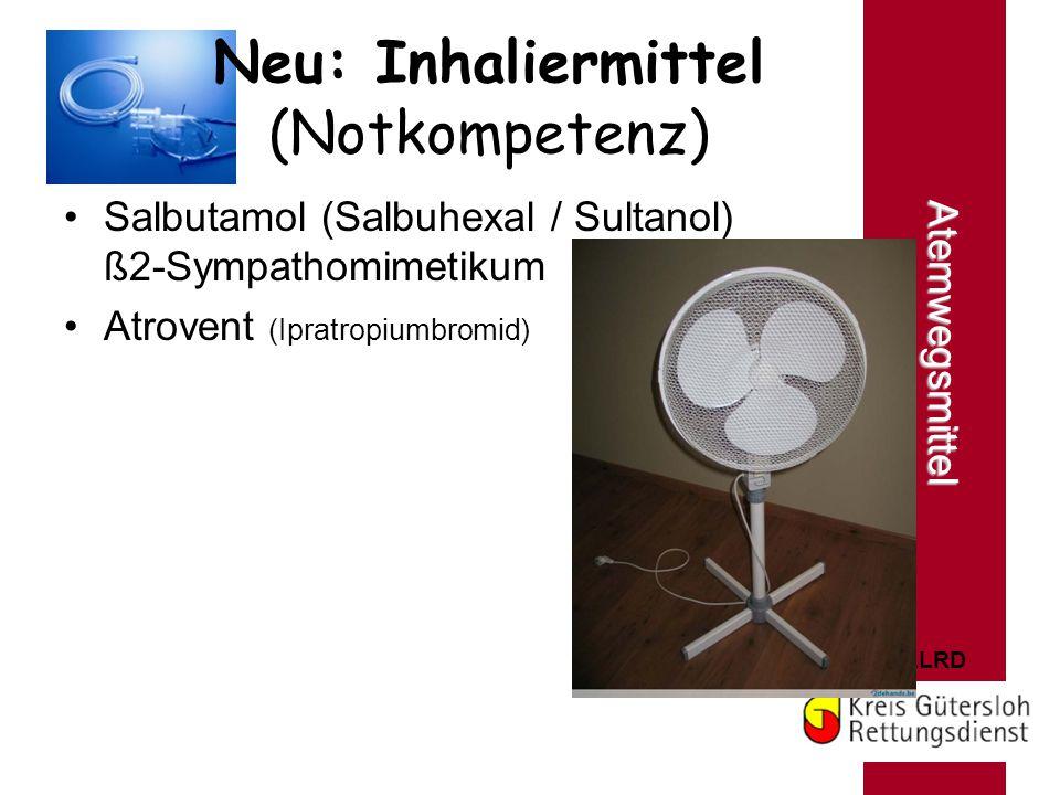 Neu: Inhaliermittel (Notkompetenz)