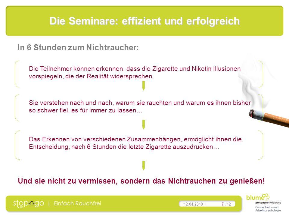 Die Seminare: effizient und erfolgreich