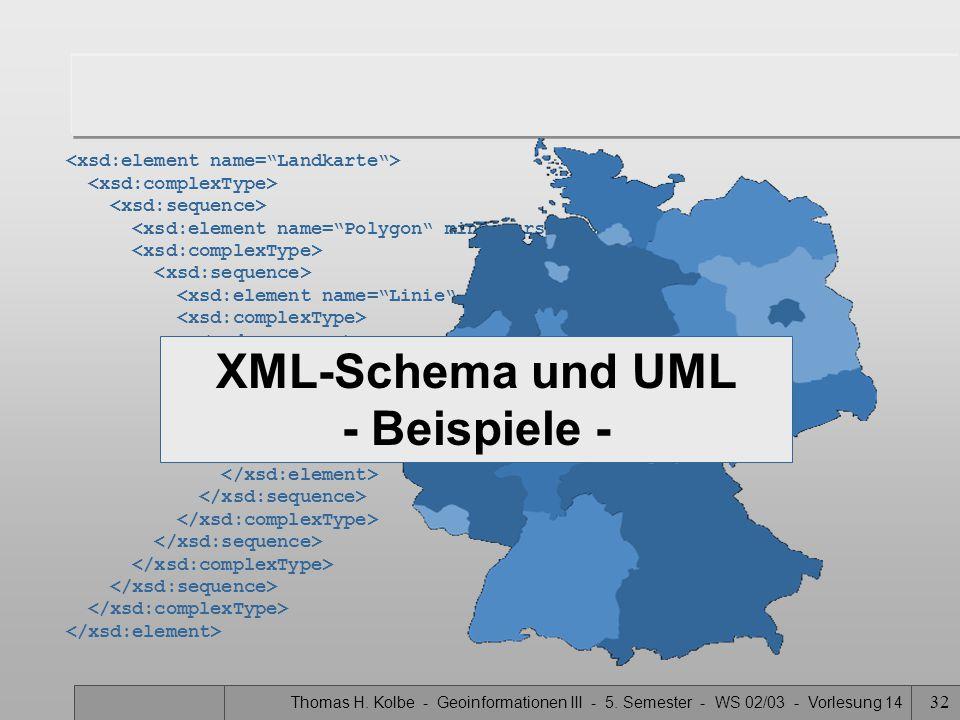 XML-Schema und UML - Beispiele -