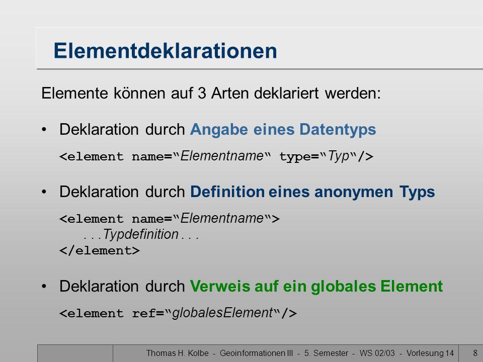 Elementdeklarationen