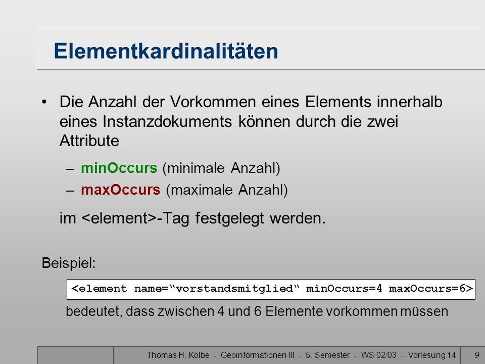 Elementkardinalitäten