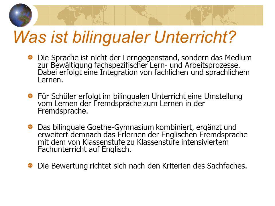 Was ist bilingualer Unterricht