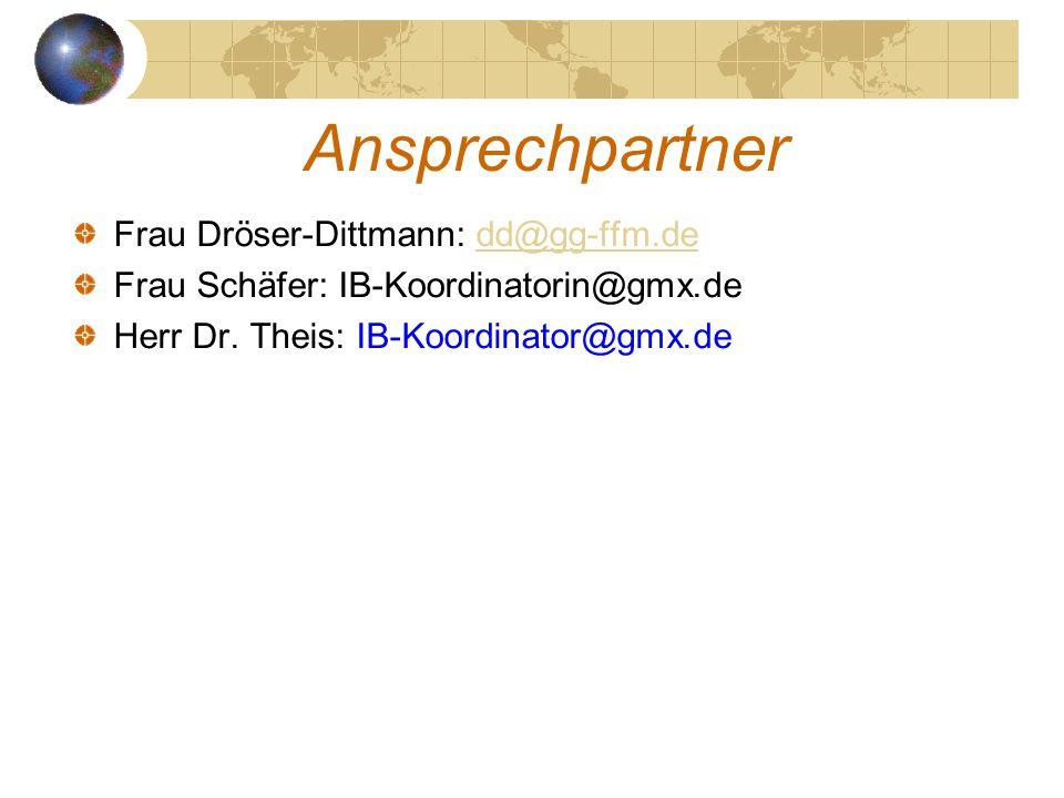 Ansprechpartner Frau Dröser-Dittmann: dd@gg-ffm.de