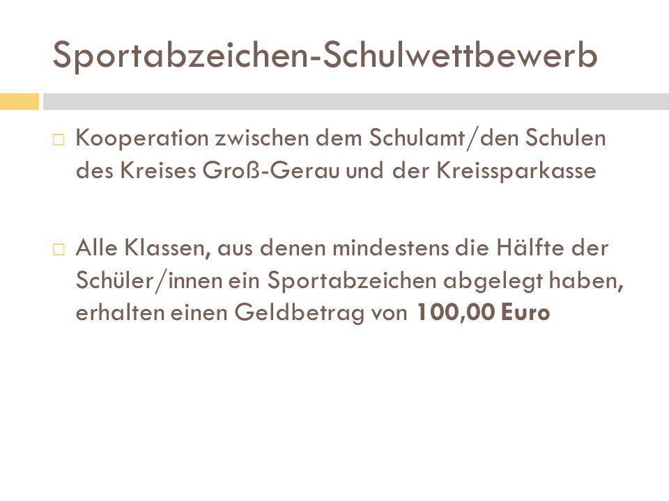 Sportabzeichen-Schulwettbewerb