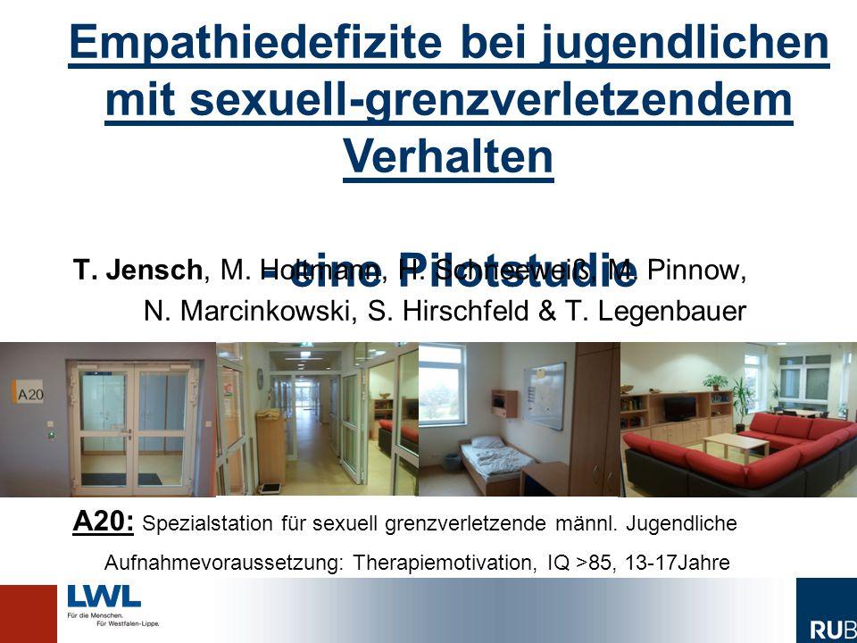 Empathiedefizite bei jugendlichen mit sexuell-grenzverletzendem Verhalten - eine Pilotstudie Empathiedefizite bei jugendlichen mit sexuell-grenzverletzendem Verhalten - eine Pilotstudie