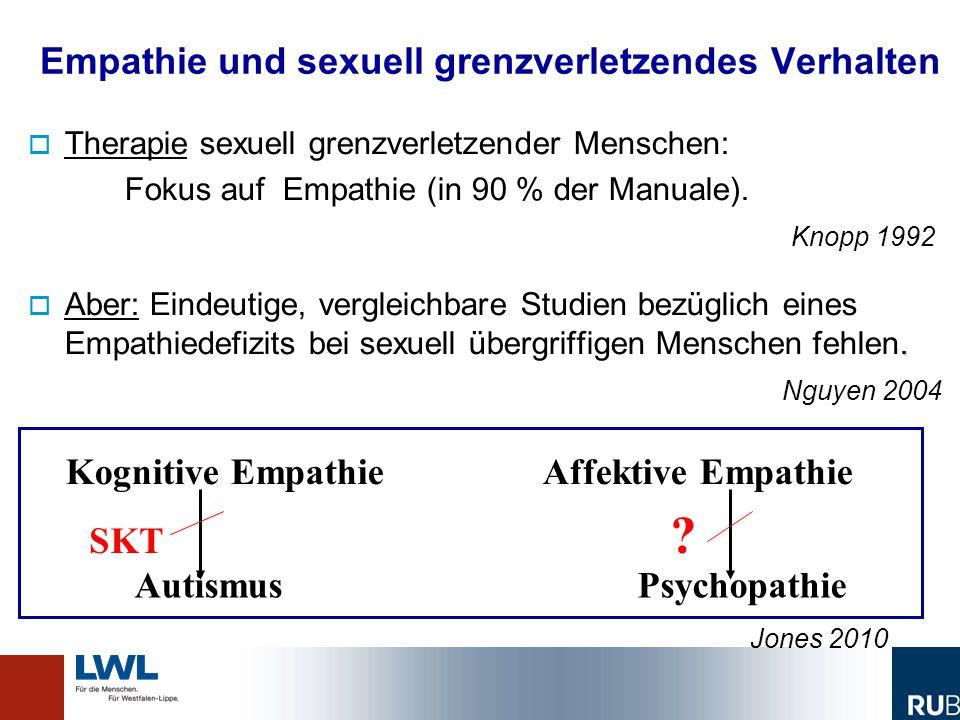 Empathie und sexuell grenzverletzendes Verhalten