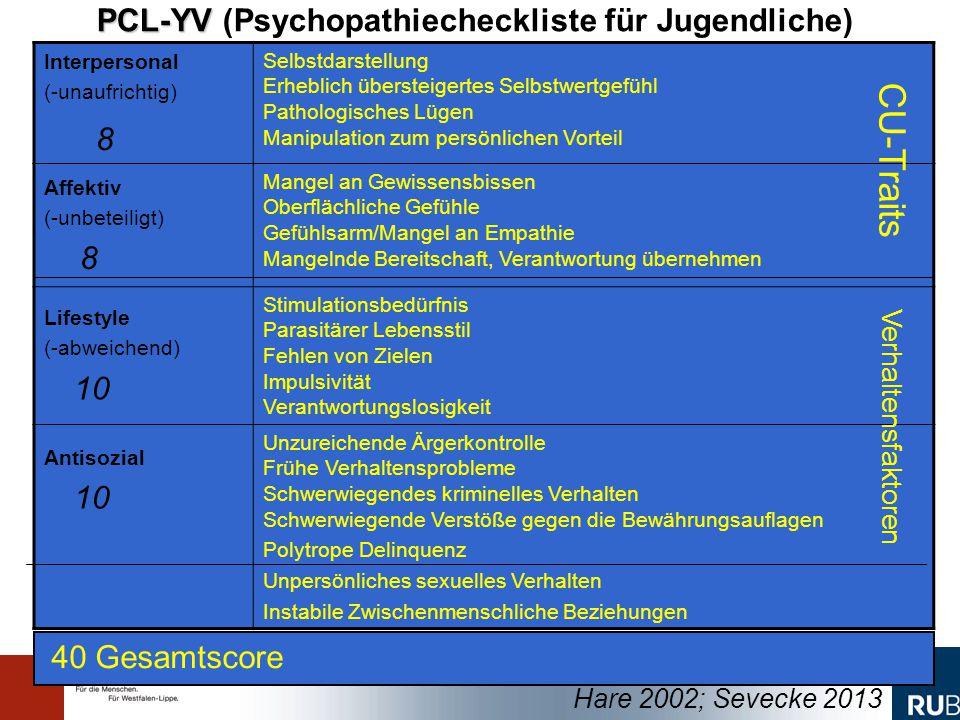 8 CU-Traits PCL-YV (Psychopathiecheckliste für Jugendliche)