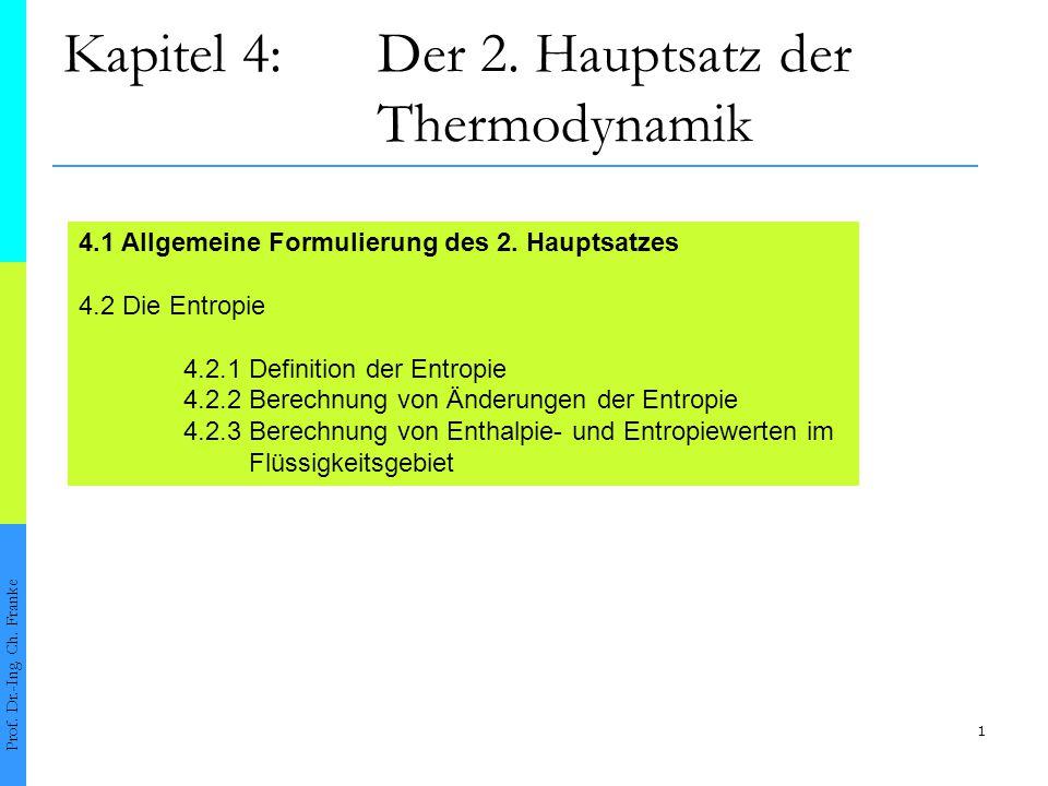 Kapitel 4: Der 2. Hauptsatz der Thermodynamik