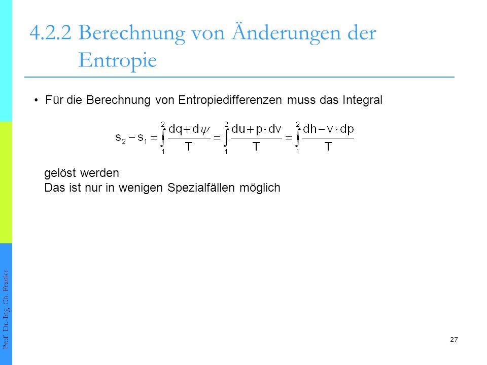 4.2.2 Berechnung von Änderungen der Entropie