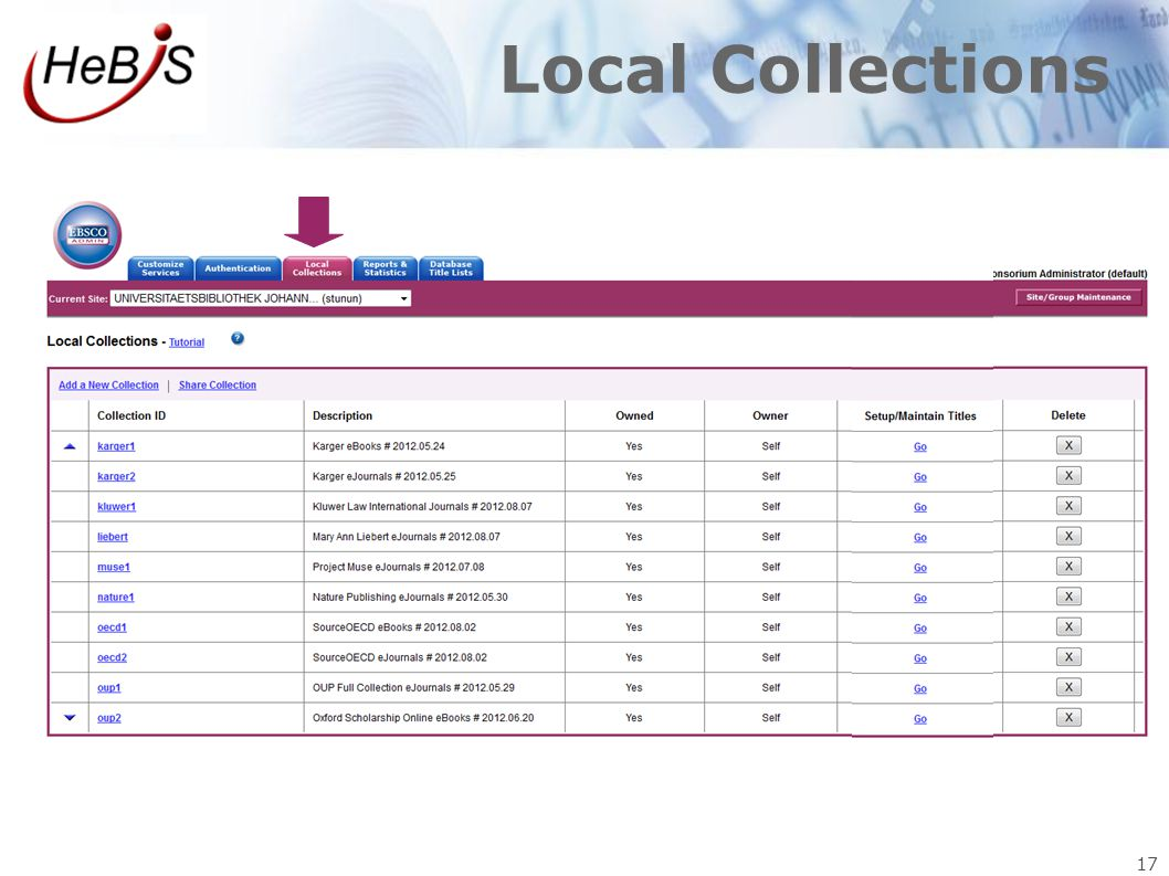 Local Collections 17 17