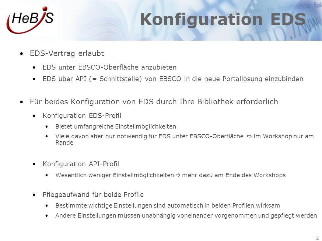 Konfiguration EDS EDS-Vertrag erlaubt