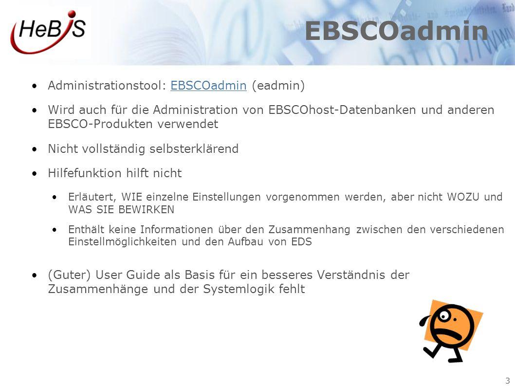 EBSCOadmin Administrationstool: EBSCOadmin (eadmin)