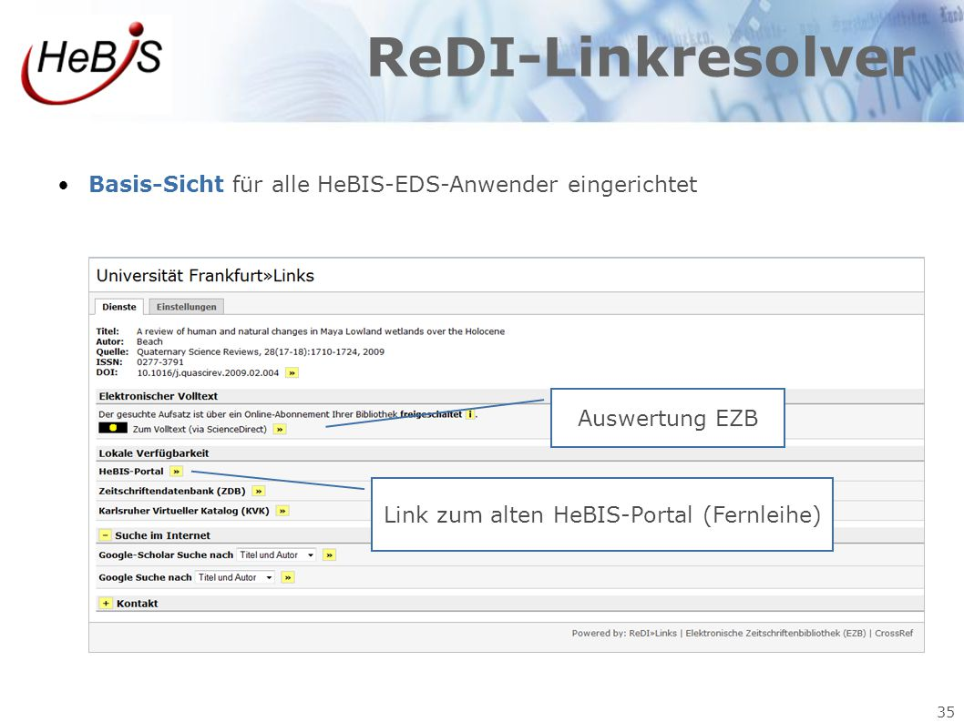 Link zum alten HeBIS-Portal (Fernleihe)