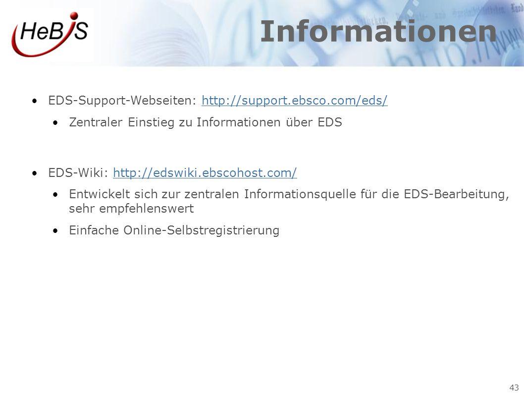 Informationen EDS-Support-Webseiten: http://support.ebsco.com/eds/