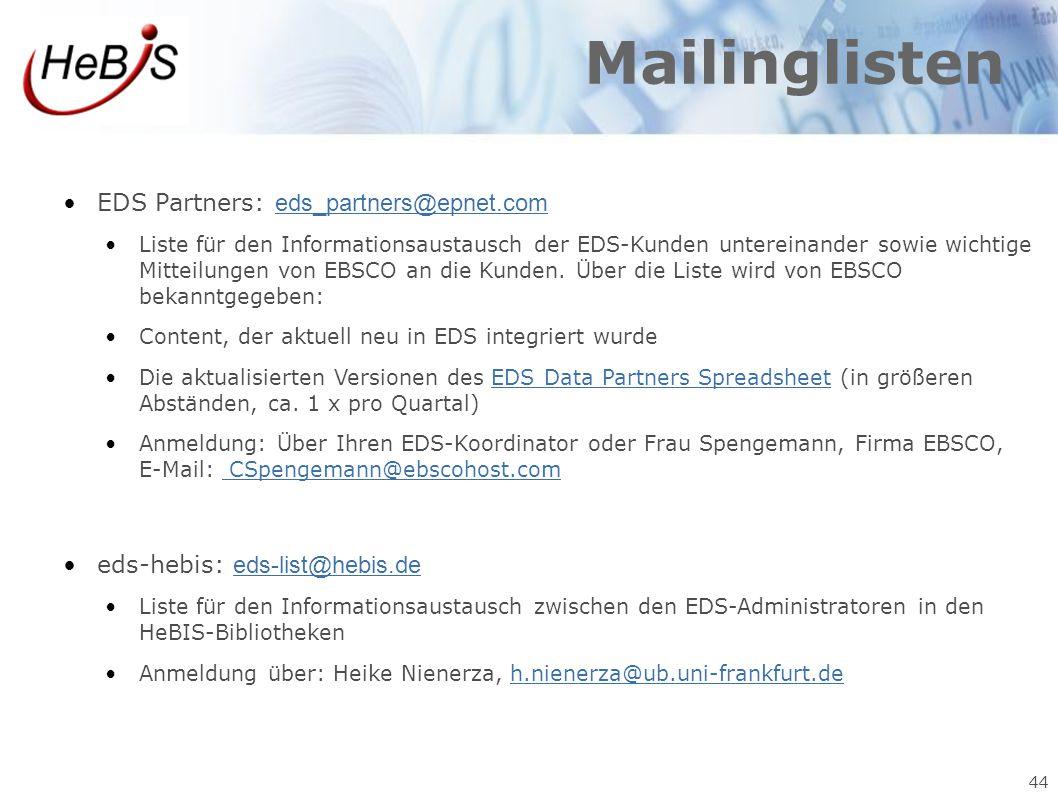 Mailinglisten EDS Partners: eds_partners@epnet.com