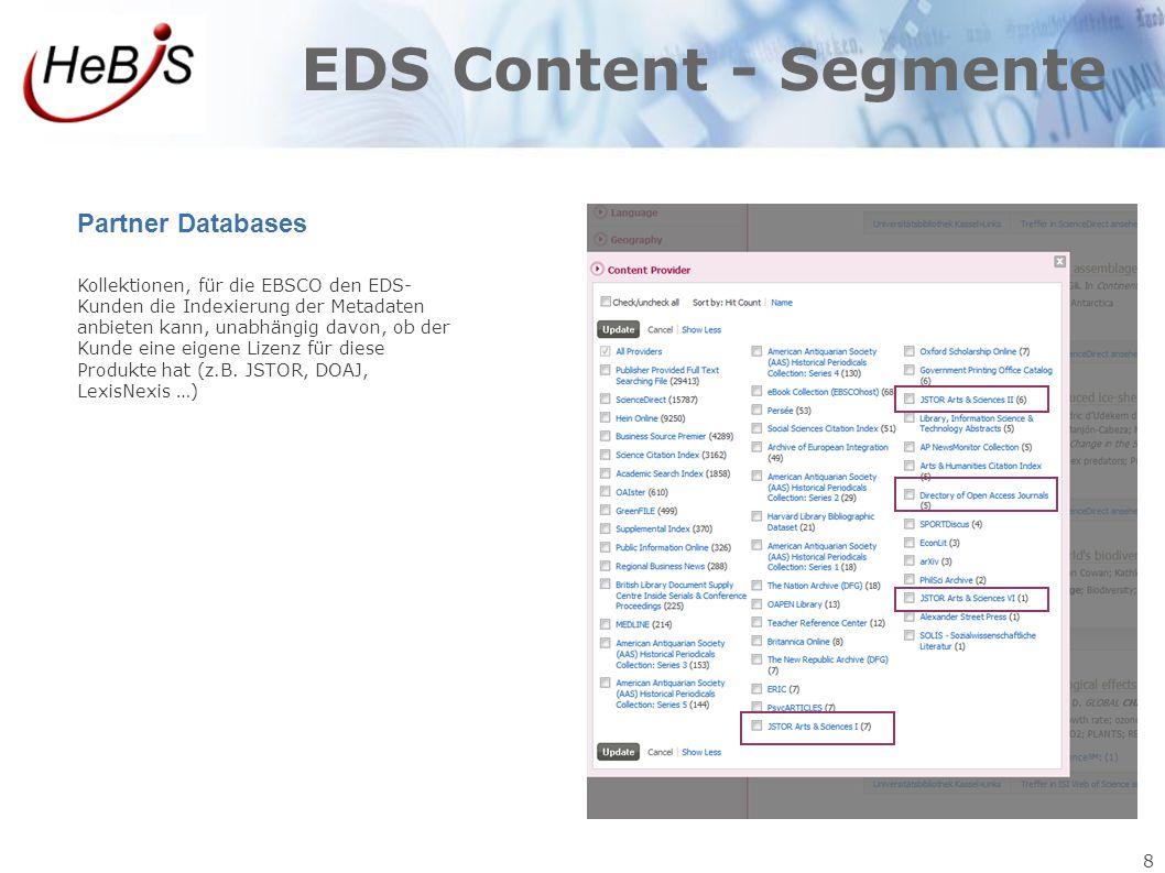 EDS Content - Segmente Partner Databases 8