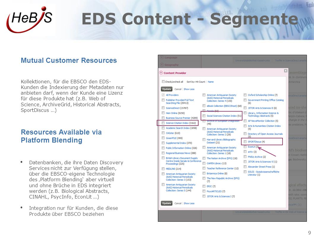 EDS Content - Segmente Mutual Customer Resources