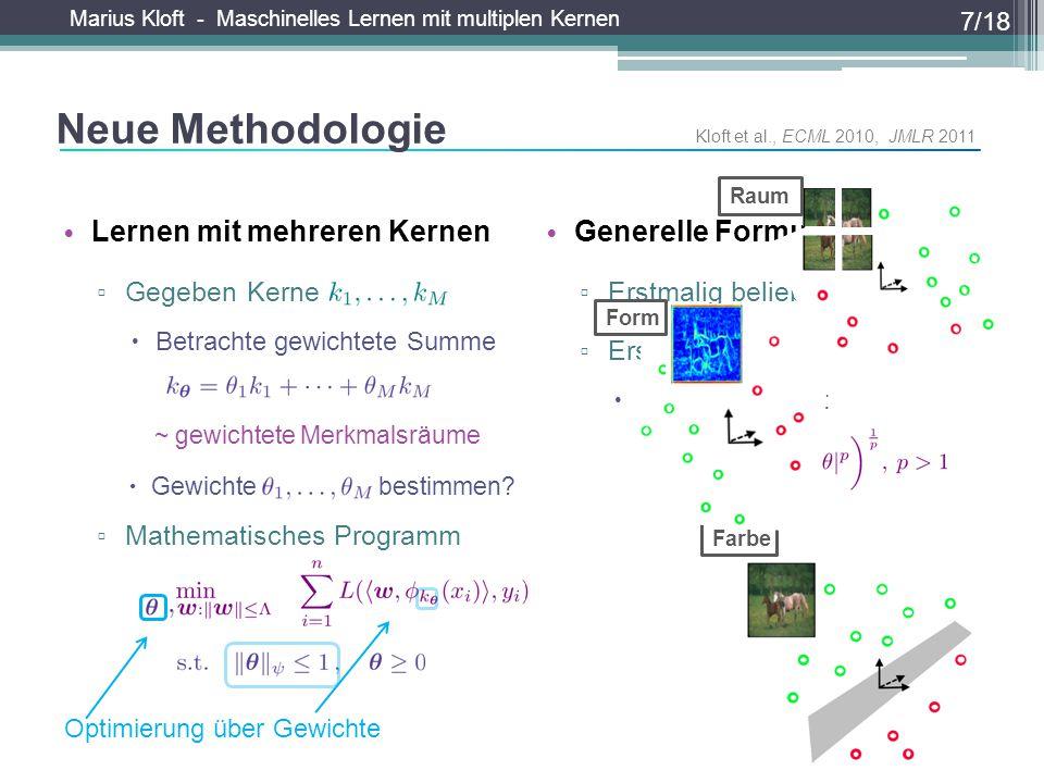 Neue Methodologie Lernen mit mehreren Kernen Generelle Formulierung