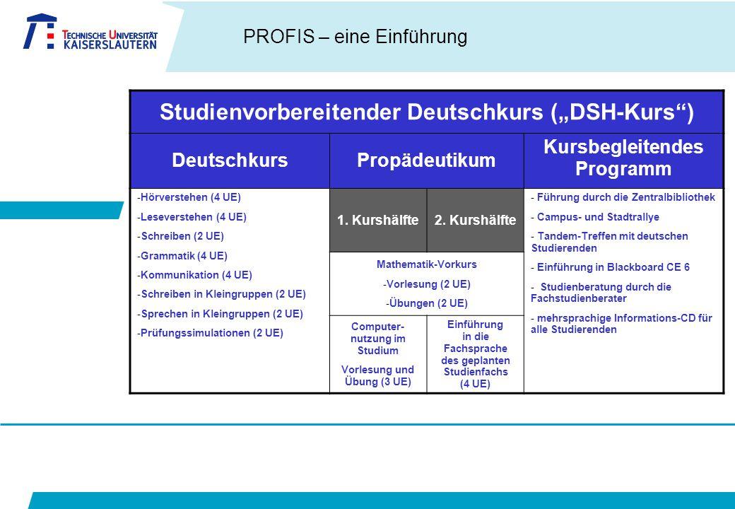 """Studienvorbereitender Deutschkurs (""""DSH-Kurs )"""