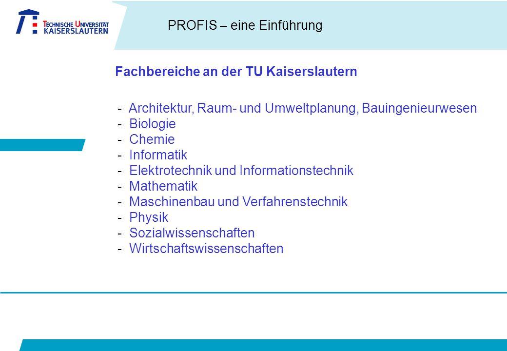 Fachbereiche an der TU Kaiserslautern