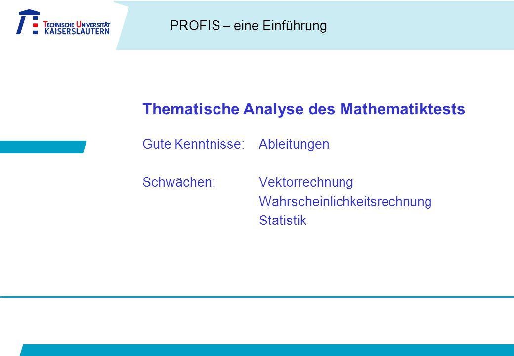Thematische Analyse des Mathematiktests