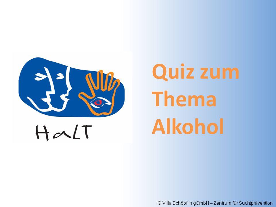 Quiz zum Thema Alkohol