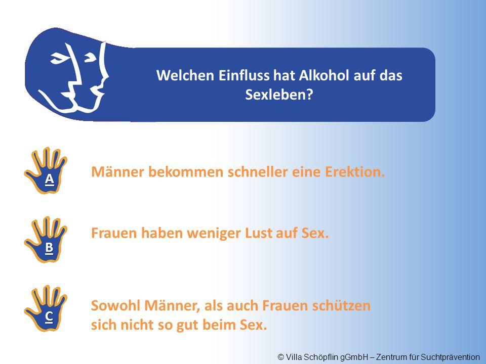 Welchen Einfluss hat Alkohol auf das Sexleben