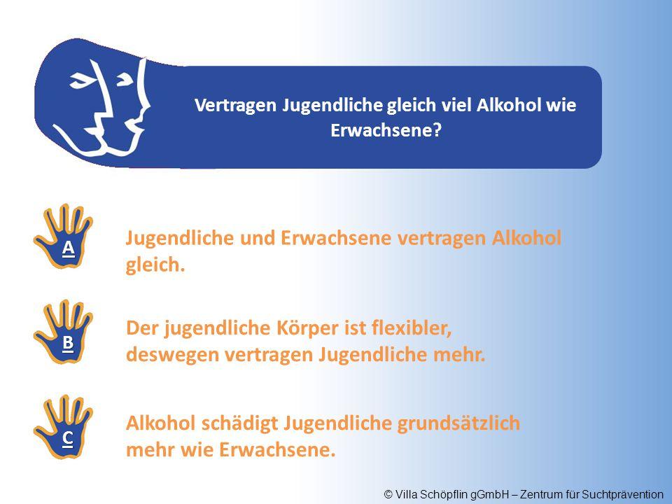 Vertragen Jugendliche gleich viel Alkohol wie Erwachsene