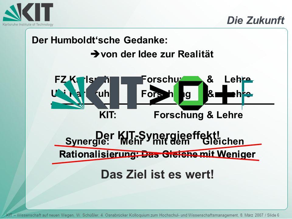 Der KIT-Synergieeffekt!