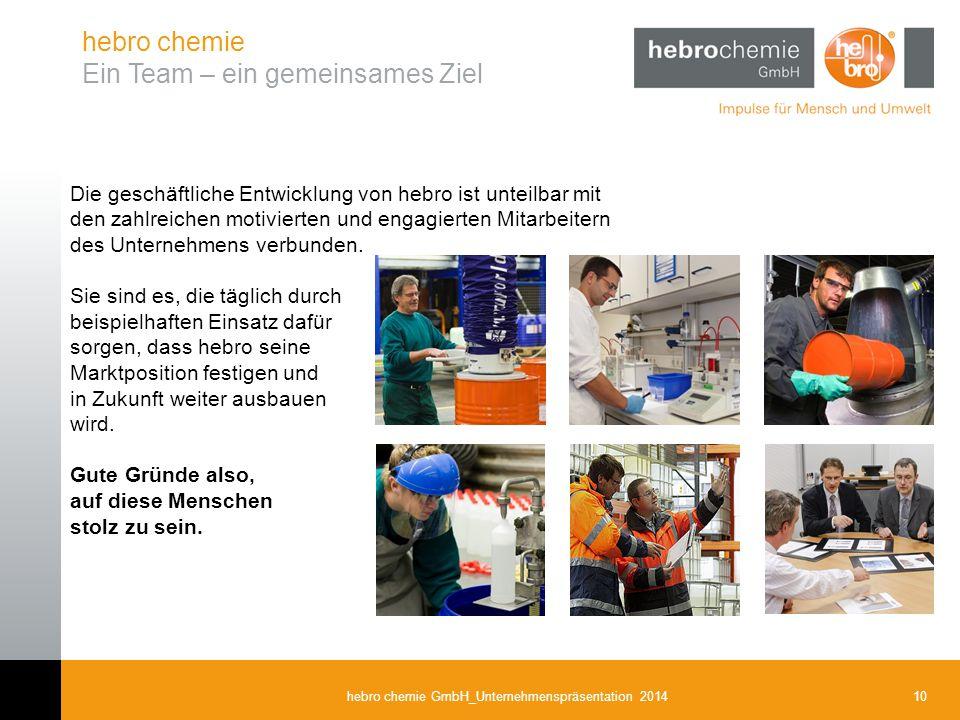 hebro chemie Ein Team – ein gemeinsames Ziel