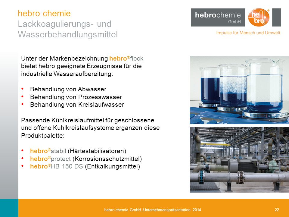 hebro chemie Lackkoagulierungs- und Wasserbehandlungsmittel