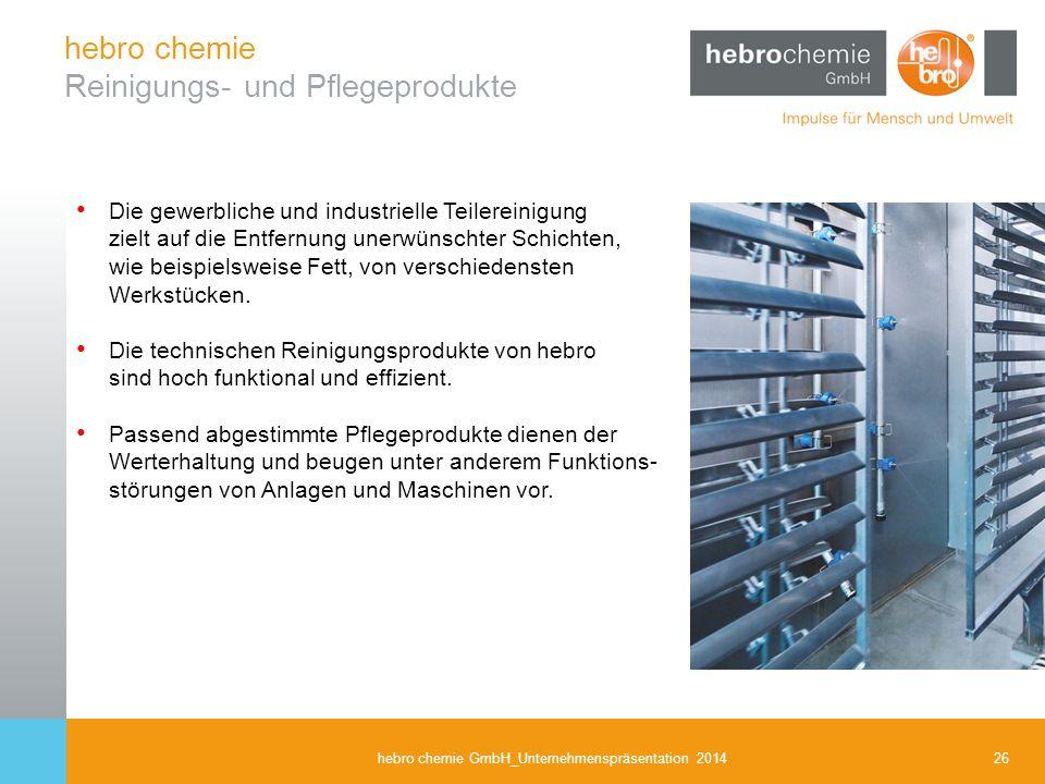 hebro chemie Reinigungs- und Pflegeprodukte