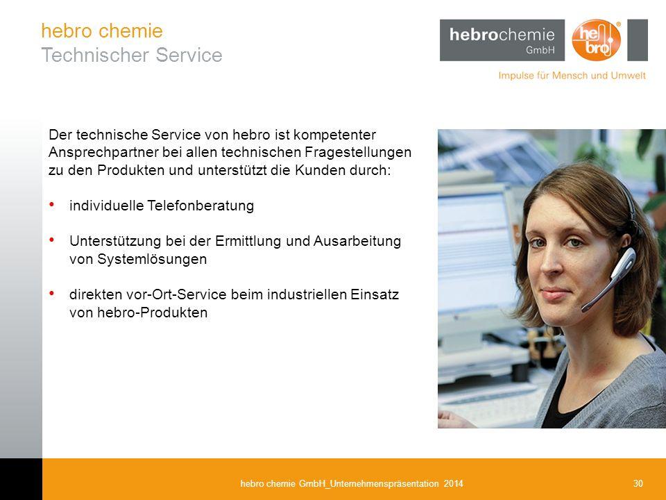 hebro chemie Technischer Service