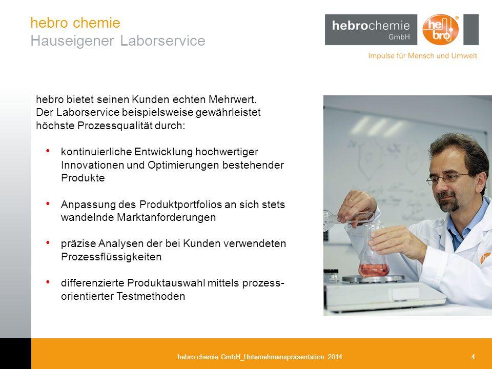 hebro chemie Hauseigener Laborservice