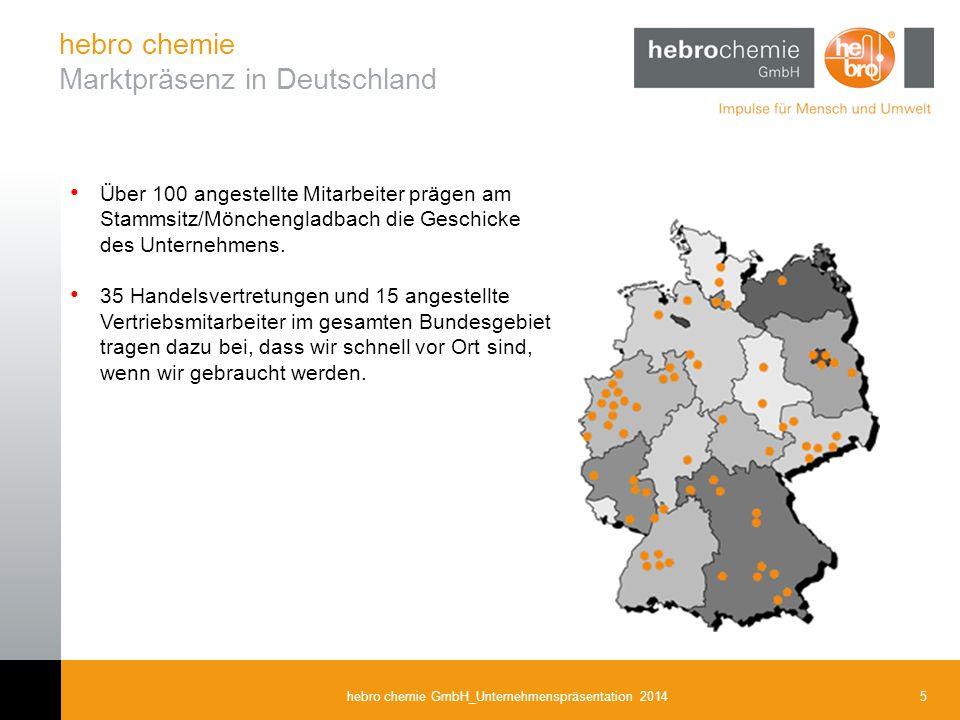hebro chemie Marktpräsenz in Deutschland