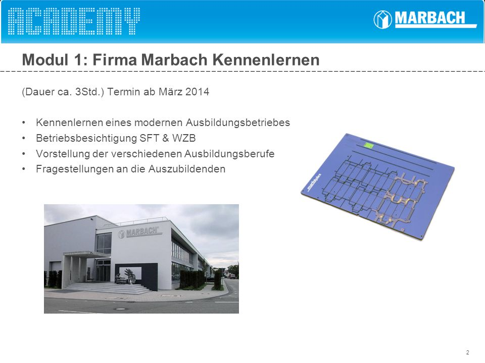 Modul 1: Firma Marbach Kennenlernen