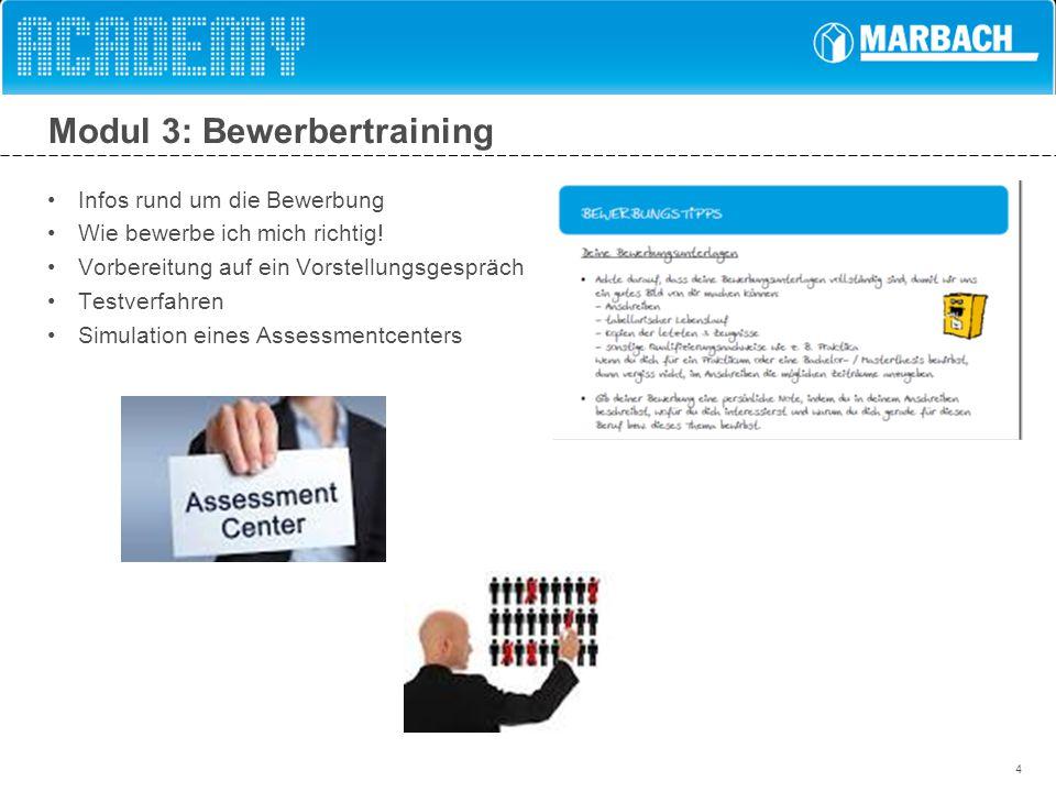 Modul 3: Bewerbertraining